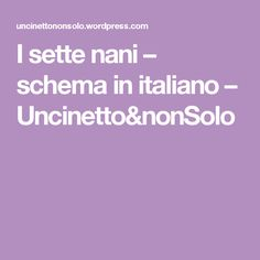 I sette nani – schema in italiano – Uncinetto&nonSolo
