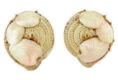 Capri Seashell Earrings on OneKingsLane.com