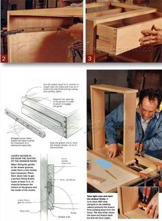 DIY Wooden Drawer Slides - Drawer Construction and Techniques | http://WoodArchivist.com