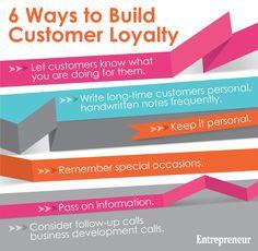 6 Ways to Build Customer Loyalty Key to successful business! Small Business Marketing, Marketing Plan, Business Tips, Loyalty Marketing, Successful Business, Customer Insight, Customer Experience, Customer Service, Massage Business