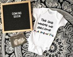 baby announcement Onesies®, baby reveal Onesies®, baby due date Onesies®, newborn Onesies®, pers Newborn Onesies, Newborn Gifts, Baby Onesie, Baby Baby, Shark Onesie, Fun Baby, Baby Shark, Baby Girls, Grandparent Announcement