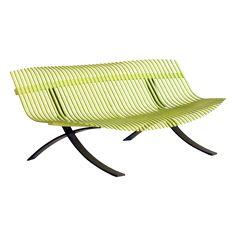 Charivari bench, outdoor furniture, garden bench