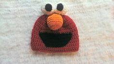 crochet elmo inspired hat, elmo hat, sesame street hat, unisex crochet hat, by NissCrochetingShop on Etsy