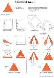 Image result for how to fold a perfect equilateral triangle