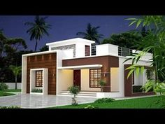 800 Sq Ft 2 Bedroom Modern Single Floor House and Plan 2 Bedroom House Design, House Roof Design, Two Story House Design, Bungalow House Design, Facade House, 2 Bedroom House Plans, Small Modern House Plans, Modern Small House Design, Modern Exterior House Designs