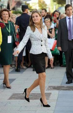 Princess Letizia attended AECC (Spanish Association Against Cancer) Congress at Palacio Municipal de Congresos in Madrid.