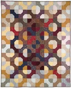 Quilt Inspiration: Simple shapes, by Diana and Laura