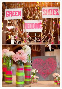 fun neon decor by @Green Wedding Shoes / Jen at The Cream Event; photo by Birds of a Feather