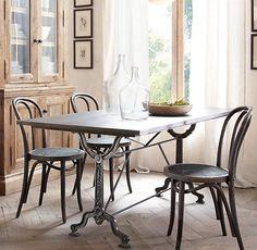 Factory Zinc & Cast Iron Dining Tables