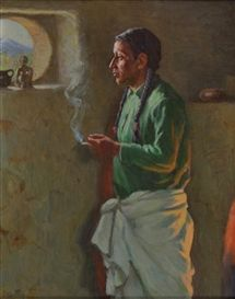 Artwork by Joseph Henry Sharp, Jerry Mirabel, Made of Oil on board