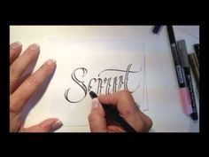 Learn how to write in Tattoo script!  Video by calligrapher, Lisa Engelbrecht Lettering Inspiration | tattoos picture tattoo writing styles