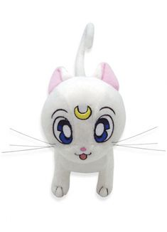 New official Sailor Moon Artemis Plushie! Shopping links here http://www.moonkitty.net/reviews-buy-sailor-moon-plushies-toys.php