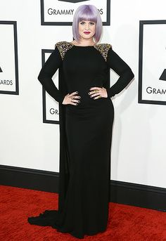 Kelly Osbourne wearing Badgley Mischka at the 2014 Grammy Awards