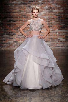 Crop-top wedding dress by Hayley Paige Spring 2014 Bridal