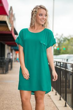 Work It Out Dress, Teal