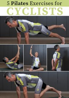 The key to sports-specific work is understanding the athletic requirements and adapting parts of the exercises in order to augment the results. In cycling, arm and shoulder endurance are often overlooked. Increased respiratory efficiency is always desired. Lower back and trunk flexibility will both improve rider comfort and power output. 5 Pilates Exercises for Cyclists http://www.active.com/cycling/articles/5-pilates-exercises-for-cyclists?cmp=17N-PB33-S14-T1-D1--1093