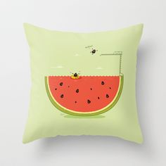 Into+The+Water+Throw+Pillow+by+Nabhan+-+$20.00