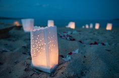 Wedding Chalkidiki Greece - I love the candle bags