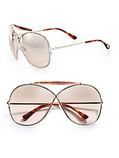 5b48dd2f84 Tom Ford Eyewear - Catherine Cross-Over Aviator Sunglasses Tom Ford Eyewear