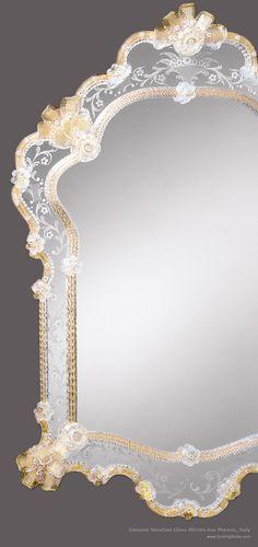 genuine Venetian glass mirrors from Murano, Italy