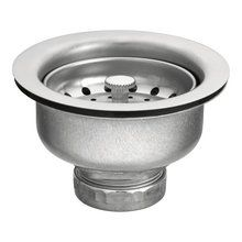 """View the Moen 22037 Stainless Steel 3-1/2"""" Basket Strainer at FaucetDirect.com. $12"""