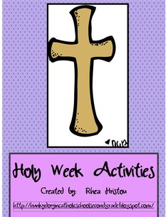 Holy Week Book of activities for you Catholic classroom
