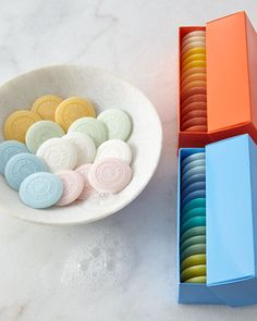 For The Hostess: Pastille Boxed Guest Soaps by Lafco at Neiman Marcus.
