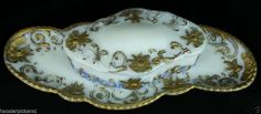 Vintage Victorian MILK GLASS  trinket puff Container with LID and tray colored