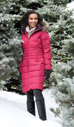 Columbia® 'Varaluck III' Long Down-Blend Winter Jacket  #SearsWishlist
