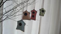 Stoffanhänger - Anhänger Vogelhaus für den Osterstrauß - ein Designerstück von Heroma bei DaWanda