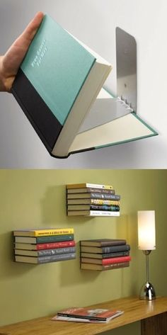 Make shelves out of books.