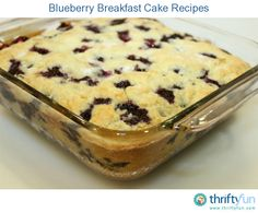 Blueberry Breakfast Cake Recipes