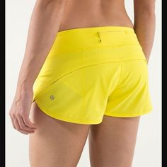 Lululemon Sizzle Speed Shorts Hard To Find!! Size 4. Rip tag and size dot were removed. 4 way stretch. One small smudge on back waistband (hard to photograph because it is light in color). No trades and price is firm. Will not be accepting offers. lululemon athletica Shorts