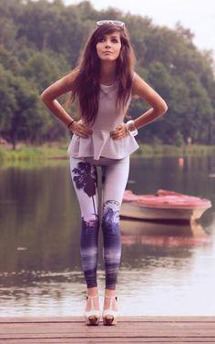 long hair, cute outfit