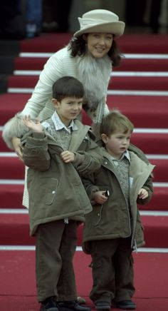 Countess Alexandra and Prince Nikolai and Prince Felix attended christening of Prince Christian January 2006