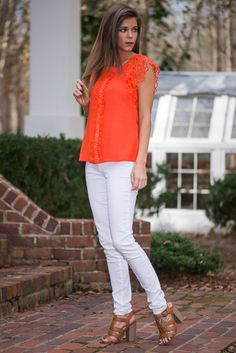 The Mint Julep Orange Top...Love!
