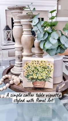 Coffee Table Vignettes, Decorating Coffee Tables, Coffee Table Decorations, Farmhouse Chic, Farmhouse Table, French Farmhouse, Easy Home Decor, Home Decor Items, Simple Coffee Table