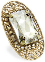 """Piedras"" Swarovski Elements Crystal Bar Ring #unusualengagementrings"