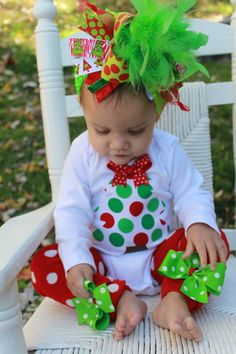 Over The Top Boutique Christmas outfit by DarlingLittleBowShop