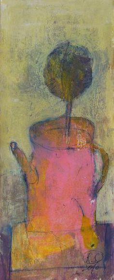 Svetlana Rumak, no titlel, paper, acrylic, 33x13 cm.
