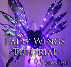 ****THIS IS NOT A PHYSICAL OBJECT YOU ARE BUYING!! WE DO NOT SEND A PATTERN OR FAIRY WINGS IN THE MAIL! YOU WILL RECEIVE A PDF TUTORIAL FILE THAT YOU