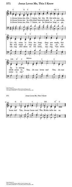 Jesus Loves Me, This I Know - Hymnary.org