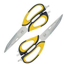 Zestkit 2 Pack Heavy Duty Kitchen Scissors,Kitchen Shears,Multi Purpose Come