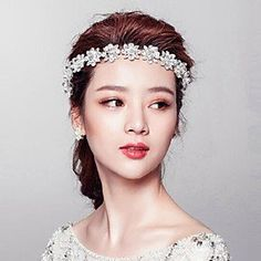 FLOW ZIG Womens RhinestoneCrystalAlloy Headpiece  WeddingSpecial OccasionOutdoor TiarasHead ChainWreaths ** You can find more details by visiting the image link. (This is an affiliate link) #BroochesandPins