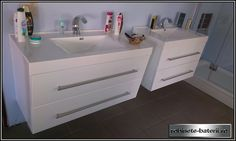 Mobilier baie suspendat Denver 100 cm Denver, Double Vanity, Bathroom, Washroom, Bathrooms, Bath, Bathing, Bath Tub
