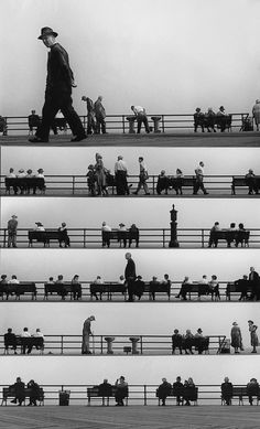 Harold Feinstein Boardwalk sheet-music montage. Coney Island (1950)