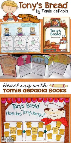 A great blog post with hands-on activities and teaching resources for Tony's Bread by Tomie dePaola. Part of a 4-part series on teaching reading comprehension and text structure with Tomie books for 1st, 2nd, and 3rd grade.