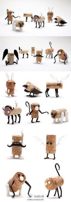 make cork creatures