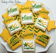 George Mason cookie platter done by my GGG - Amazing!! and she takes orders ;)