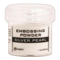 RANGER: Silver Pearl Embossing Powder This package contains one jar of embossing powder in Silver Pearl. Jar size is 1oz., fill weight will vary by color as some colors weigh more or less due to pigme